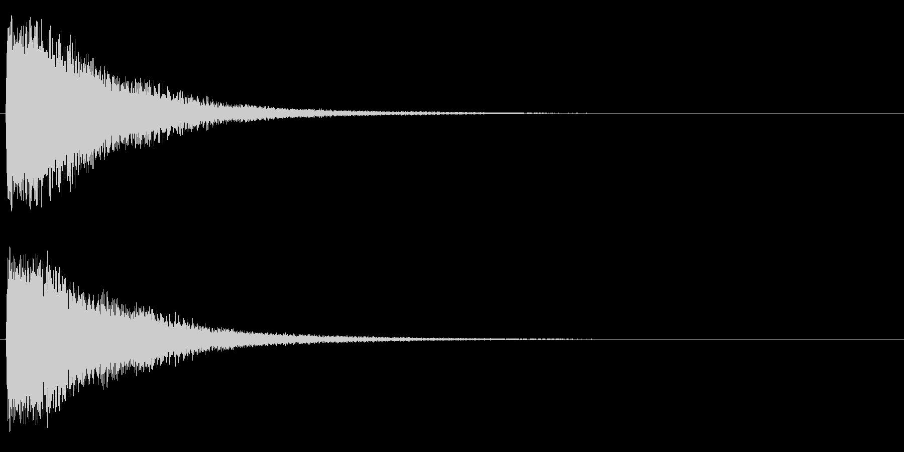 トゥィーンの未再生の波形