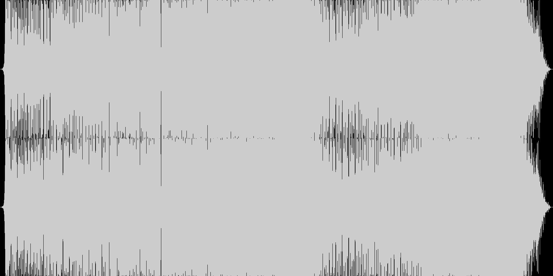 落ち着いた雰囲気の綺麗系インストEDMの未再生の波形