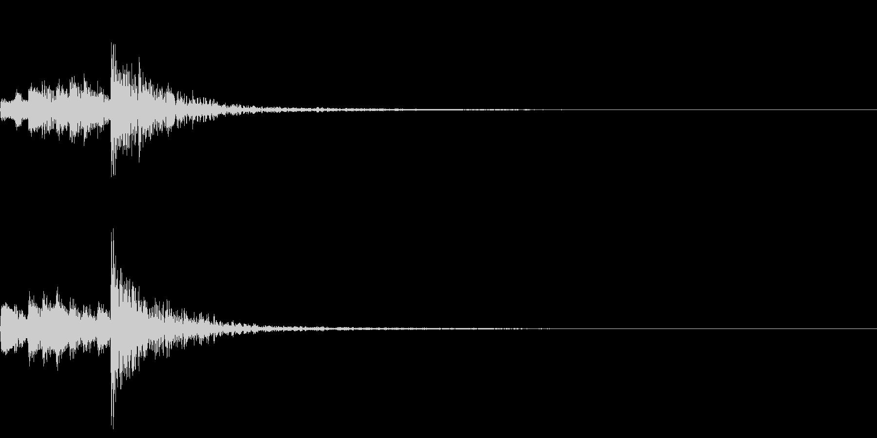 和風のピアノと太鼓 タイトル用 スタートの未再生の波形