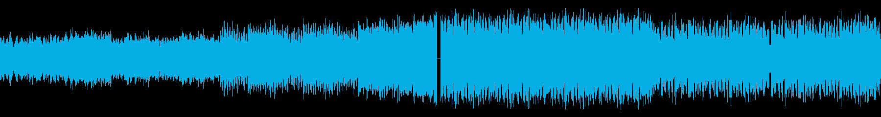 グリッジなEDMの再生済みの波形