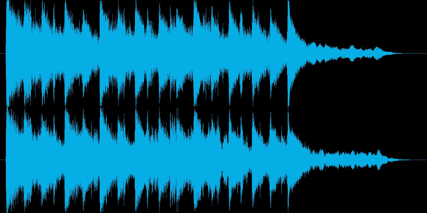 エキゾチックで怪しげな民族音楽ロゴの再生済みの波形