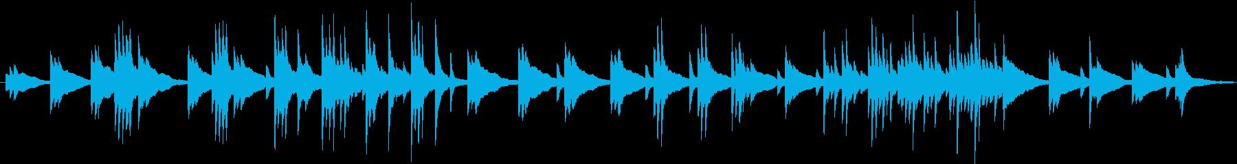 ぼーっと考えこむピアノ曲の再生済みの波形