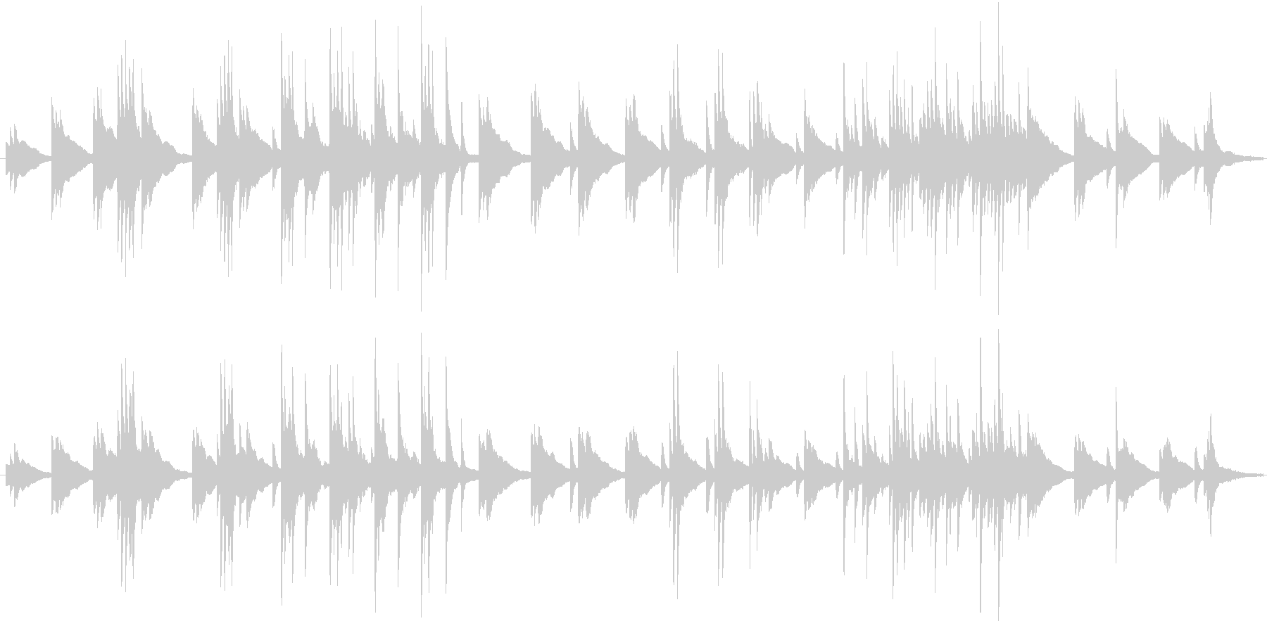 ぼーっと考えこむピアノ曲の未再生の波形