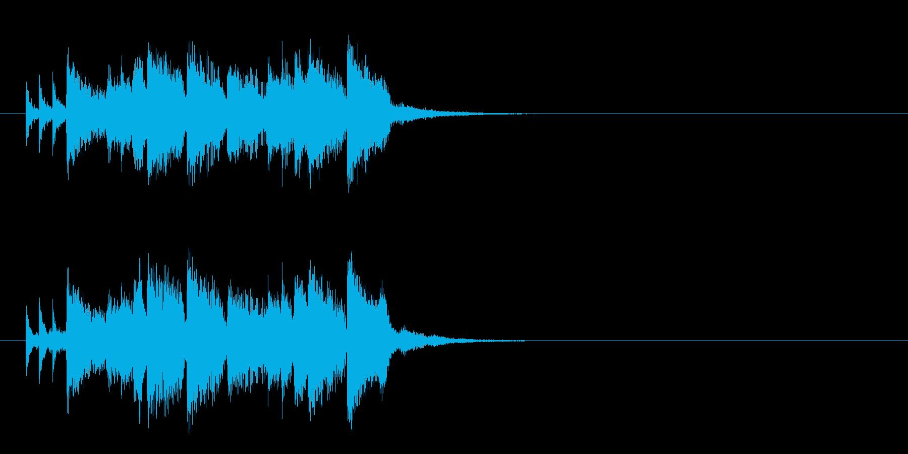 ジングル(コーナー・タイトル風)の再生済みの波形