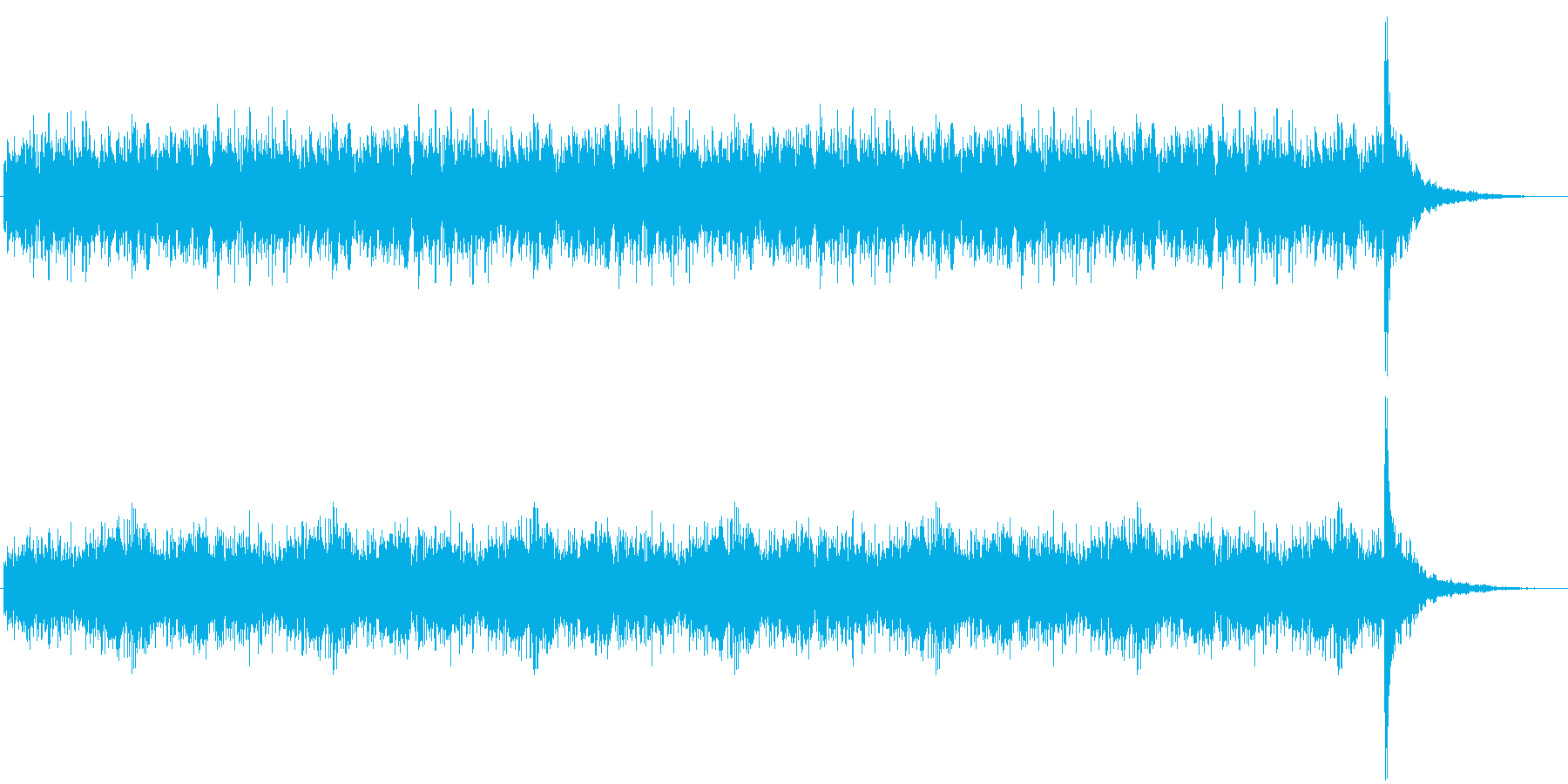 優勝発表に使うドラムロール30秒の再生済みの波形