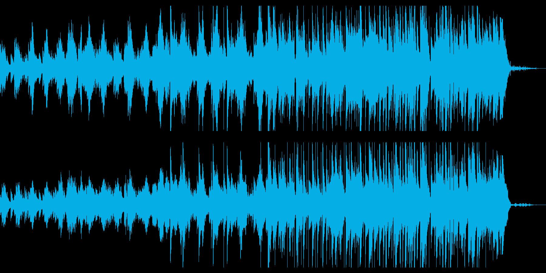 森をイメージした癒しBGMの再生済みの波形