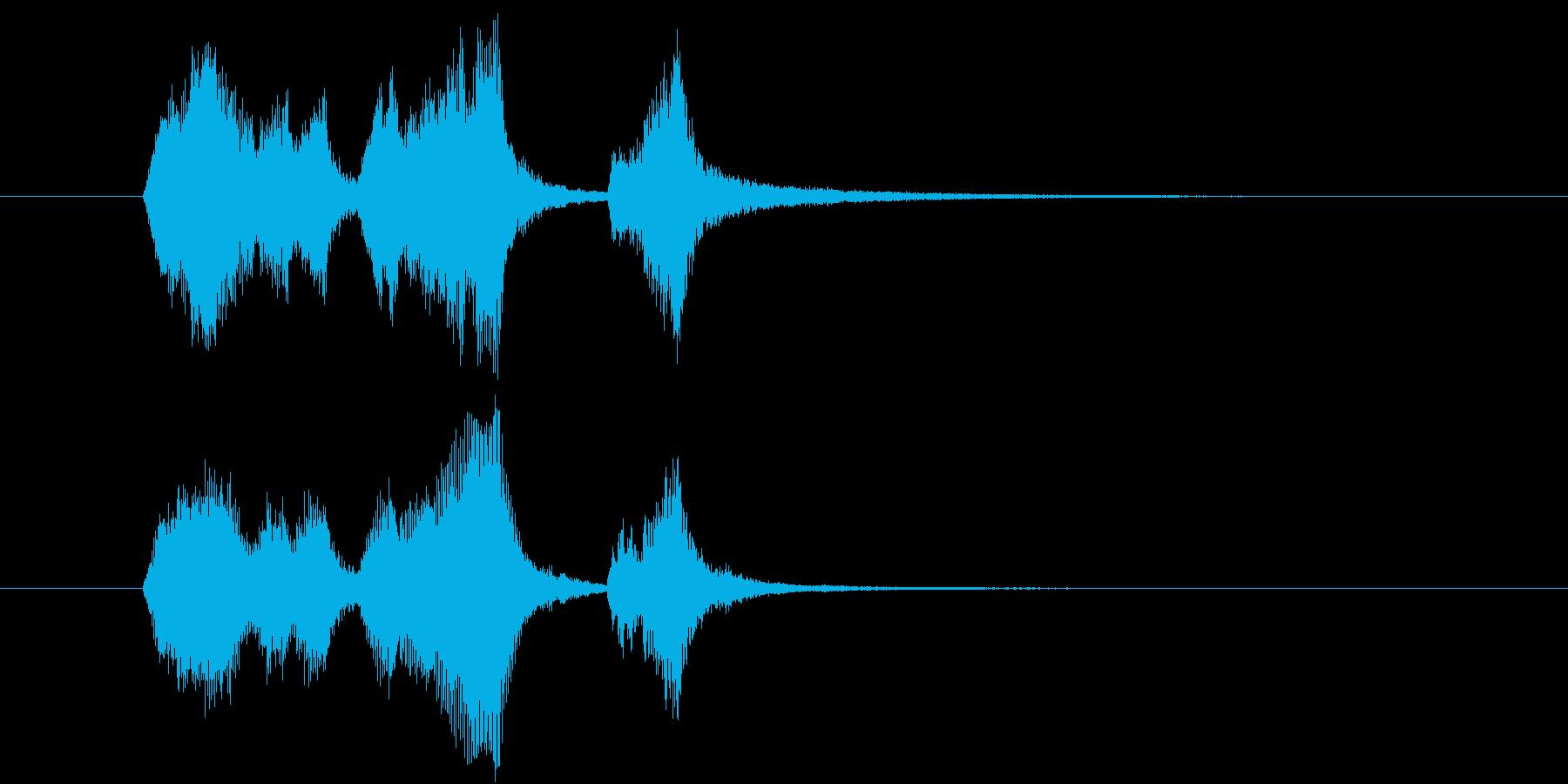 ストリングスの明るいジングルの再生済みの波形