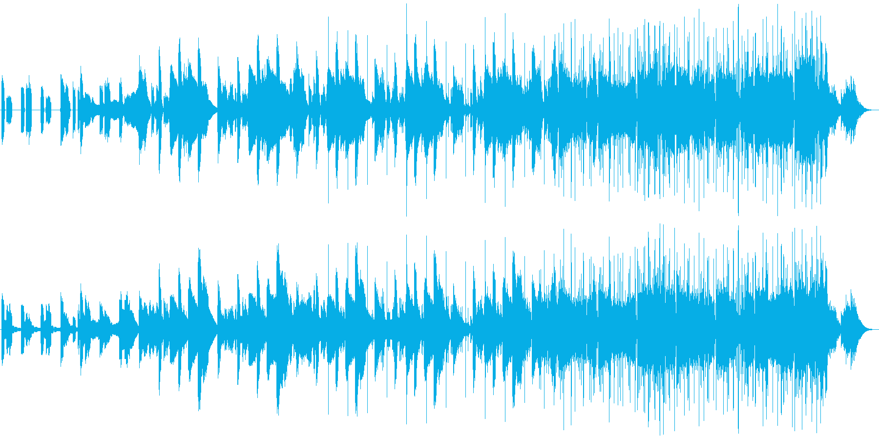 不思議な映像に合うエレクトロニカの再生済みの波形