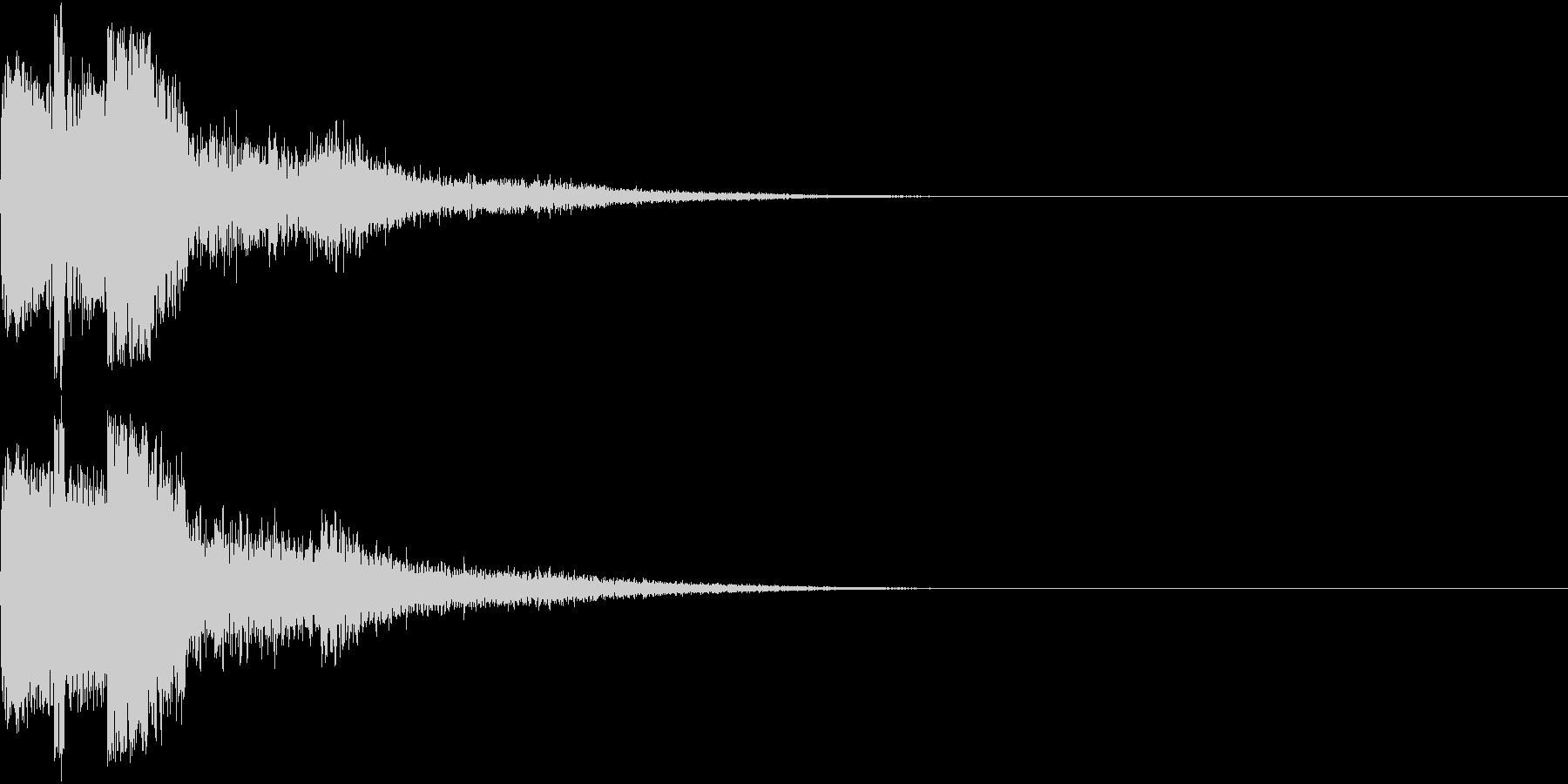 ピコン ピコ チャリン キュイン 3の未再生の波形