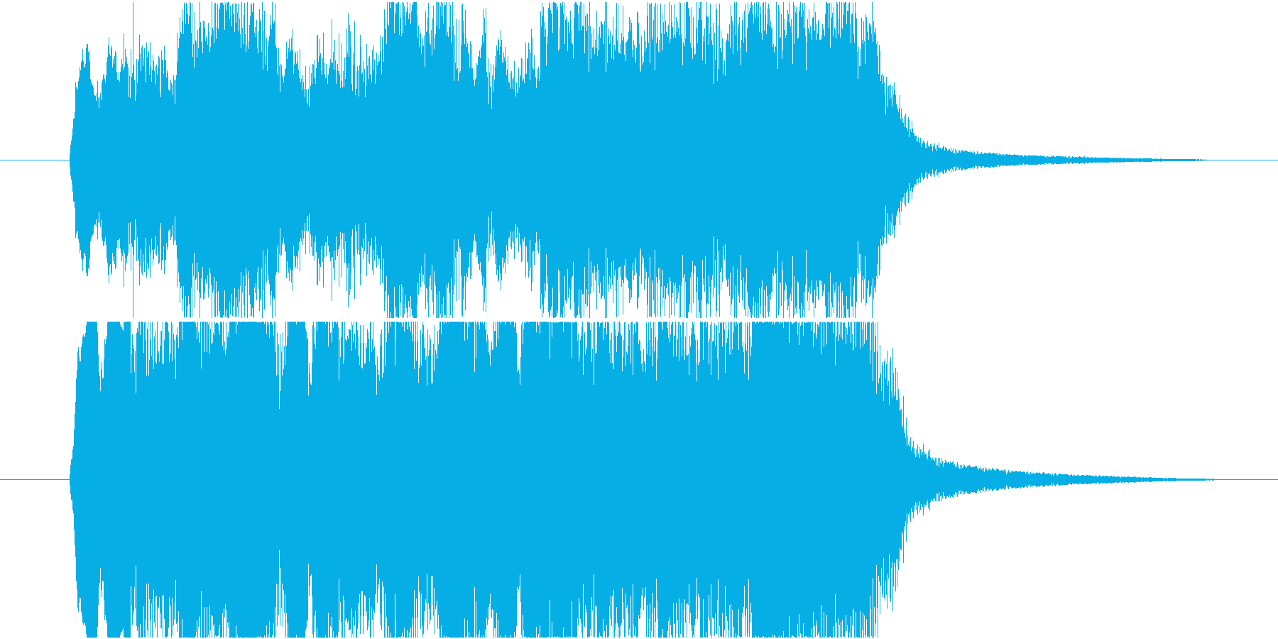 おどろおどろしいファンファーレの再生済みの波形