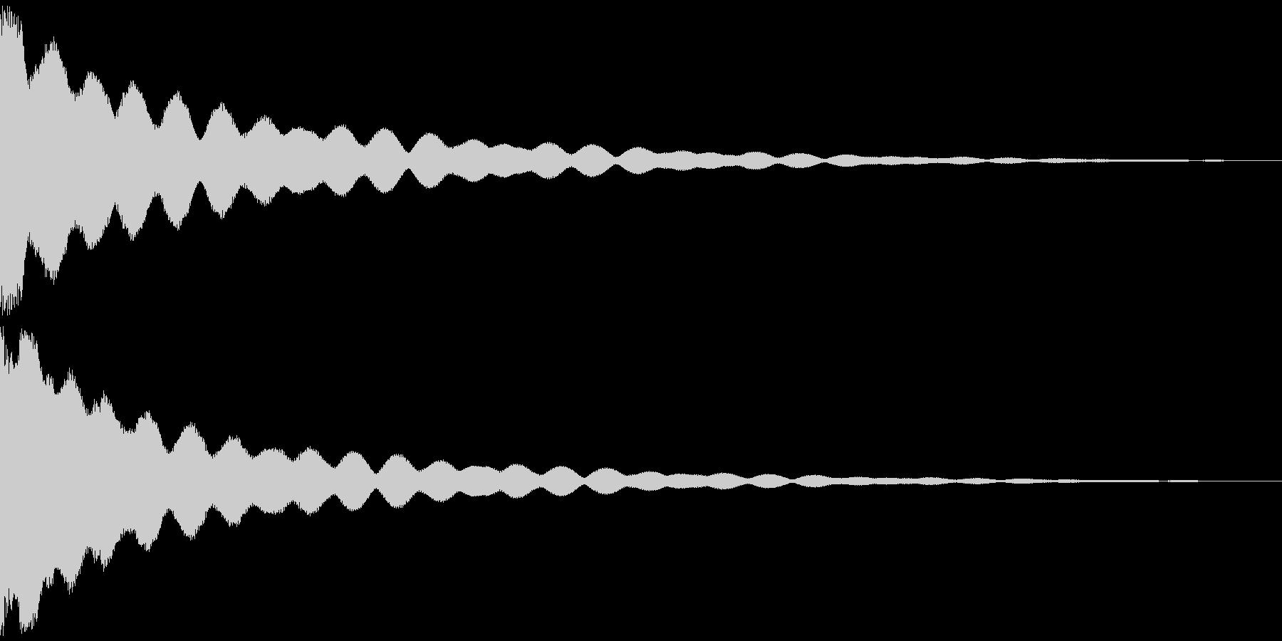 チーン 仏具の鐘、お鈴 ver.Cの未再生の波形