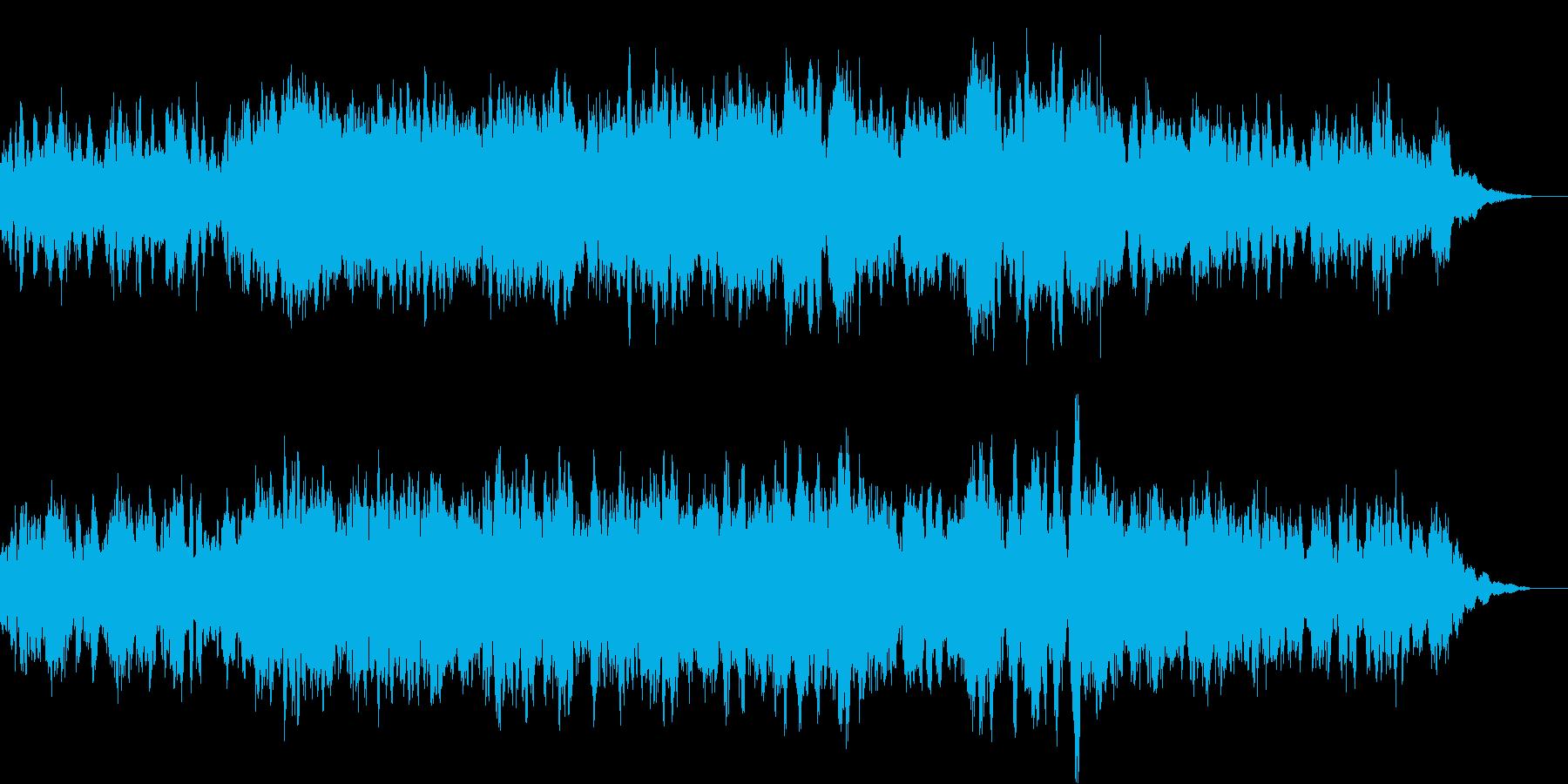 暗く不穏な空気を感じさせるホラー系BGMの再生済みの波形