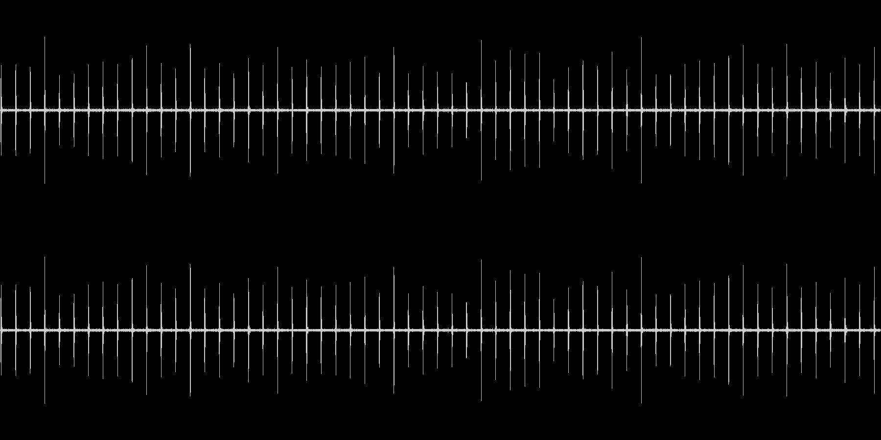 目覚まし時計の秒針が刻む音_1分ループの未再生の波形