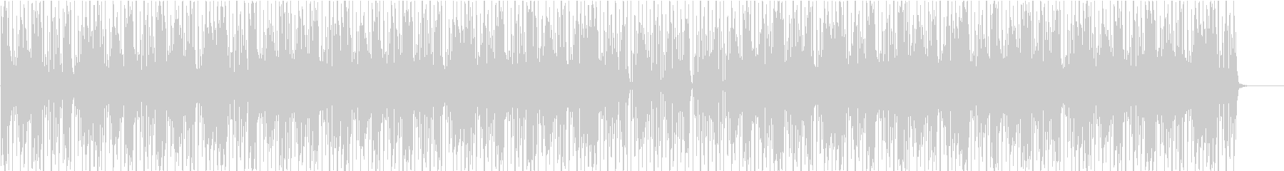90年代アシッドジャズ風BGM(WAV)の未再生の波形