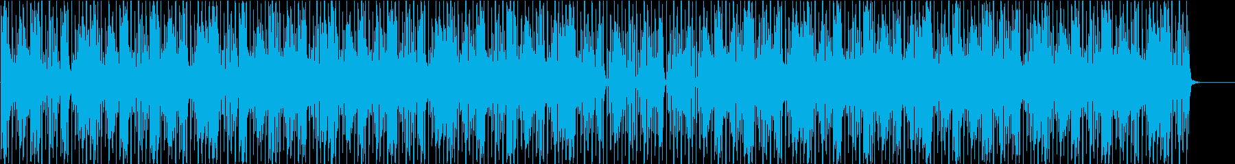 90年代アシッドジャズ風BGM(WAV)の再生済みの波形