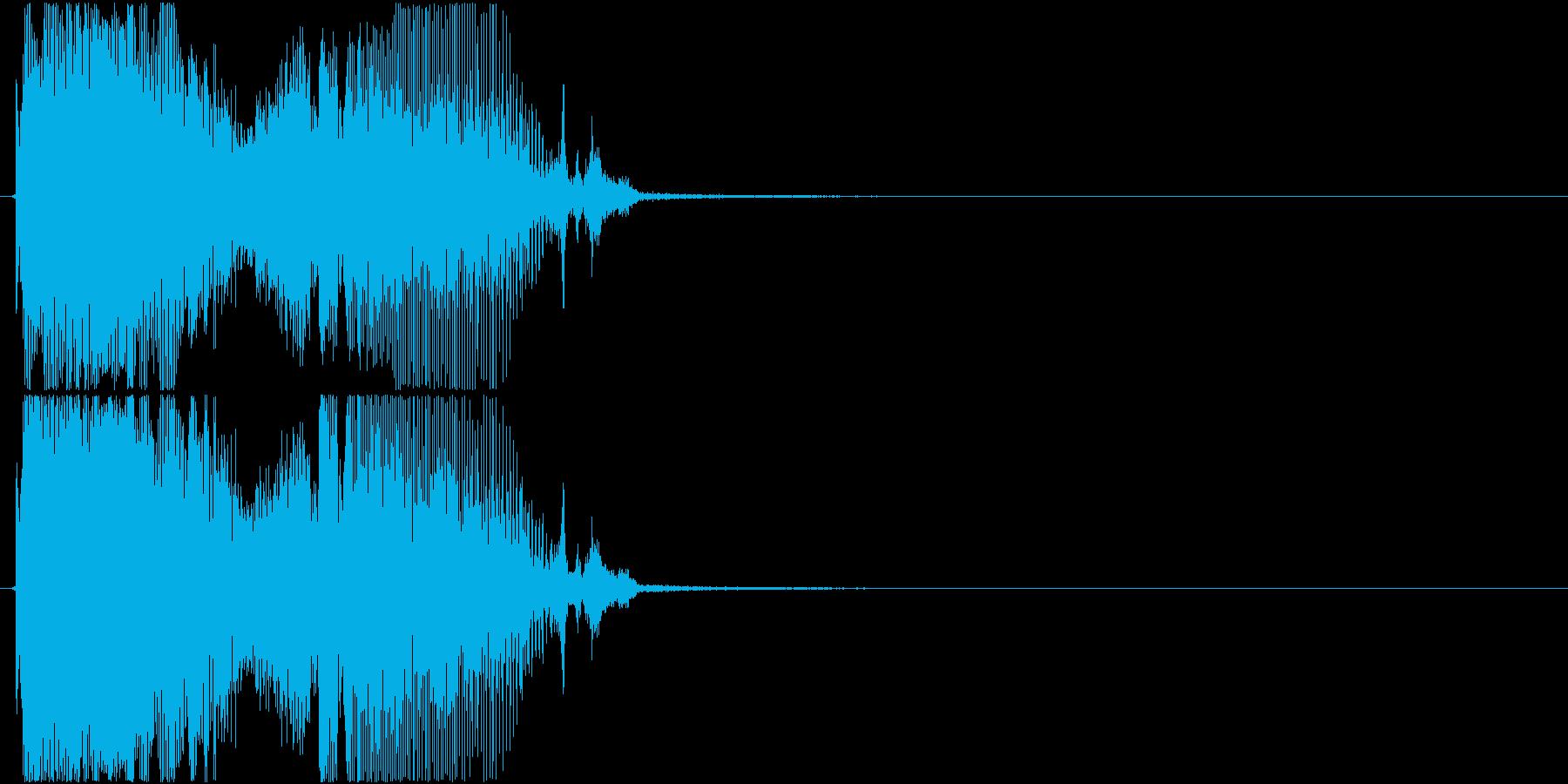 「パーフェクト」ゲーム・アプリ用4の再生済みの波形