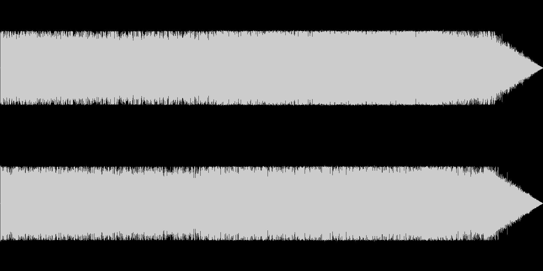 戦闘系のダークなアンビエント曲の未再生の波形