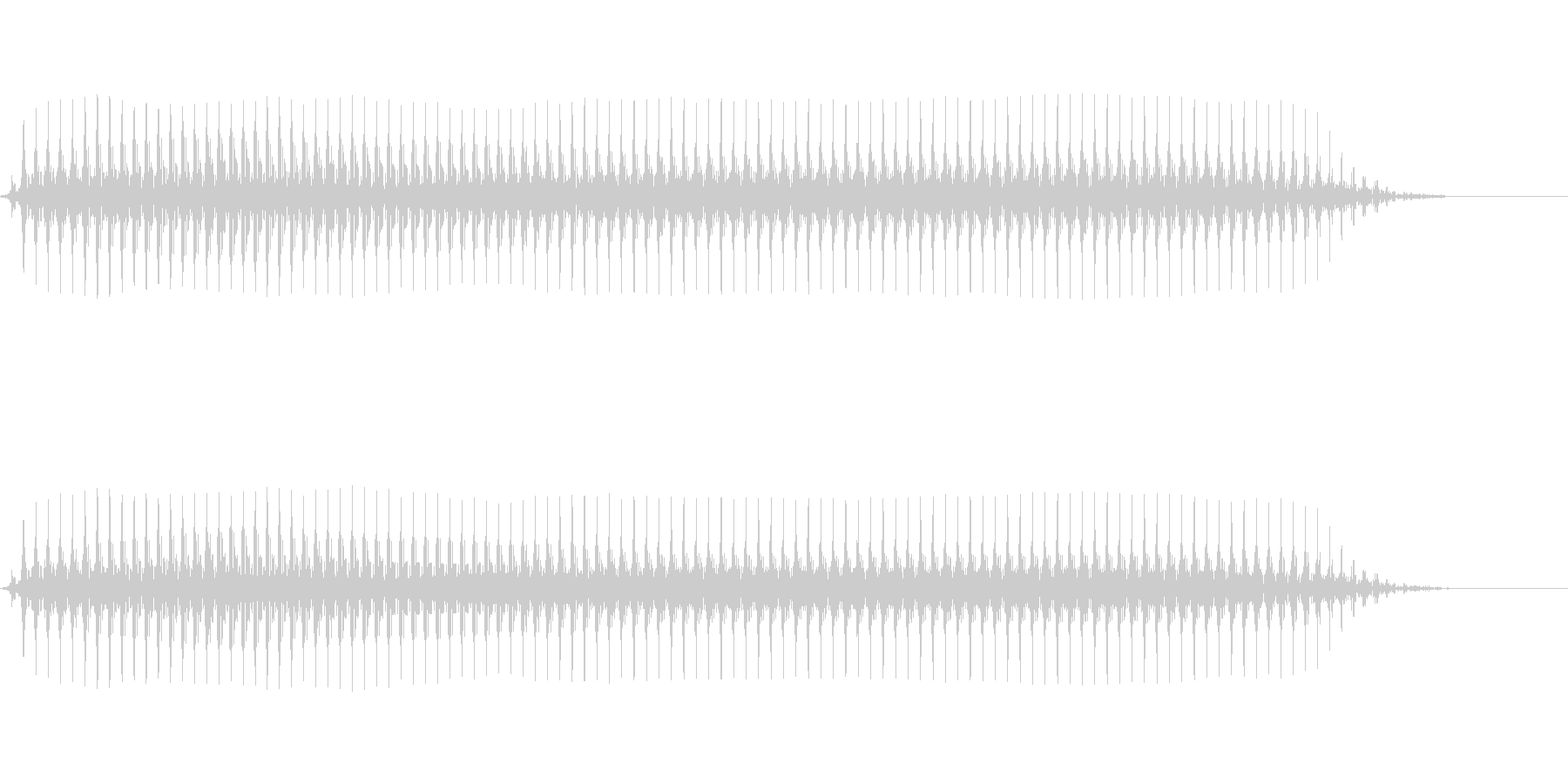【SE 効果音】効果音その6の未再生の波形
