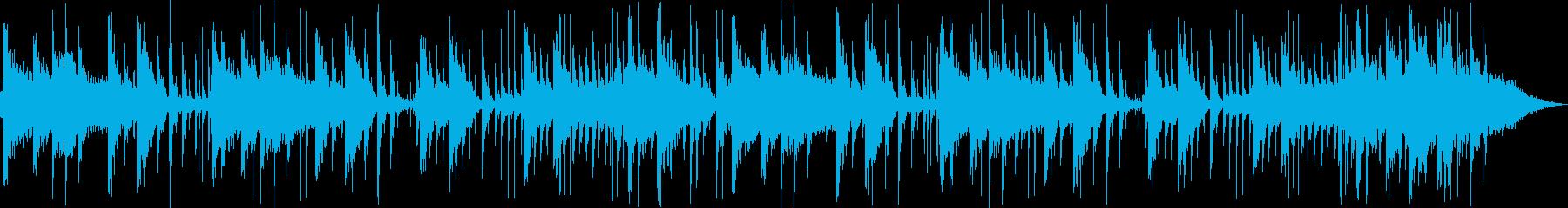 ゆったりとしたシンセピアノサウンドの再生済みの波形