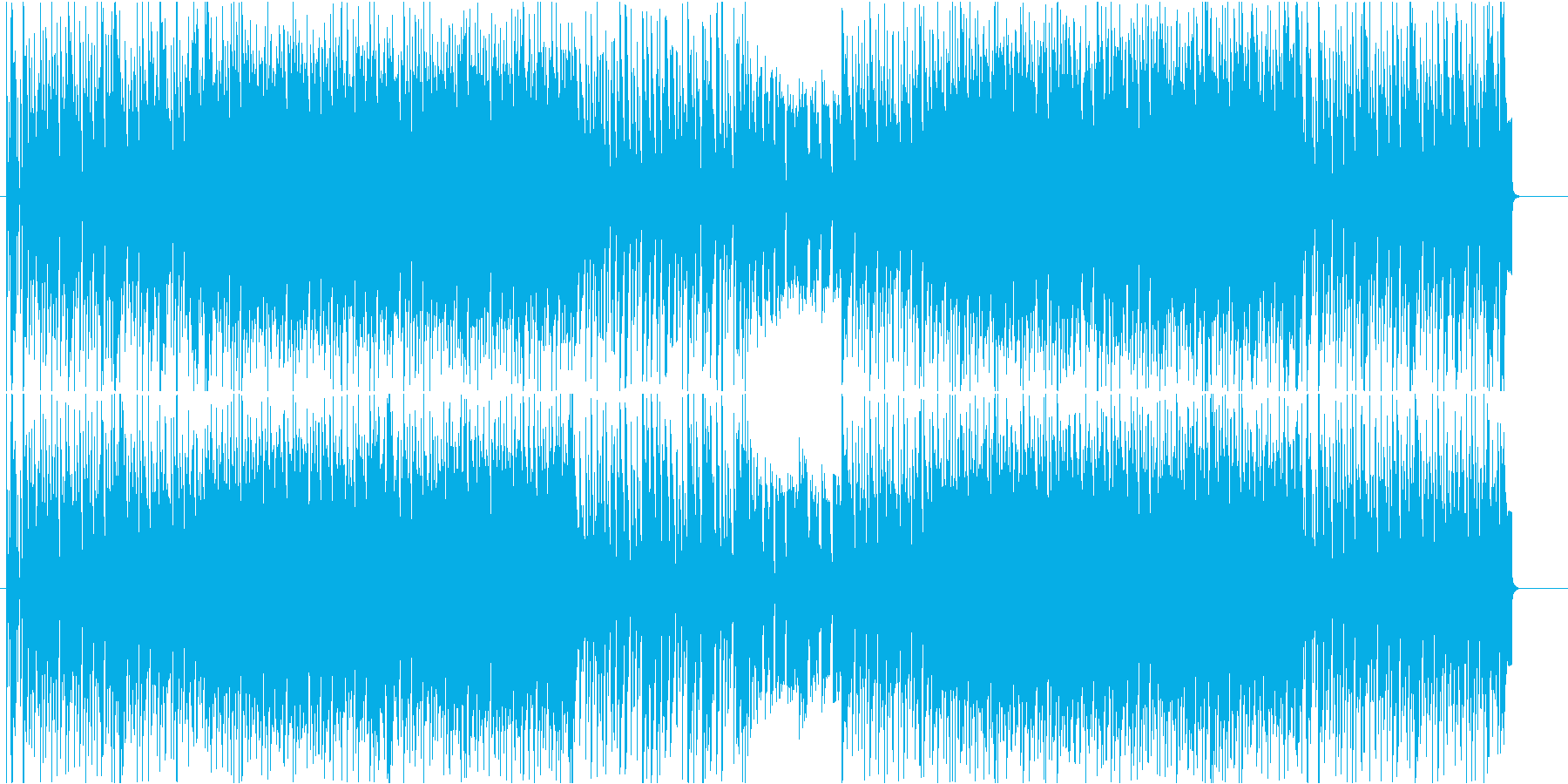声ネタのサンプル臭がすごいする変わった曲の再生済みの波形