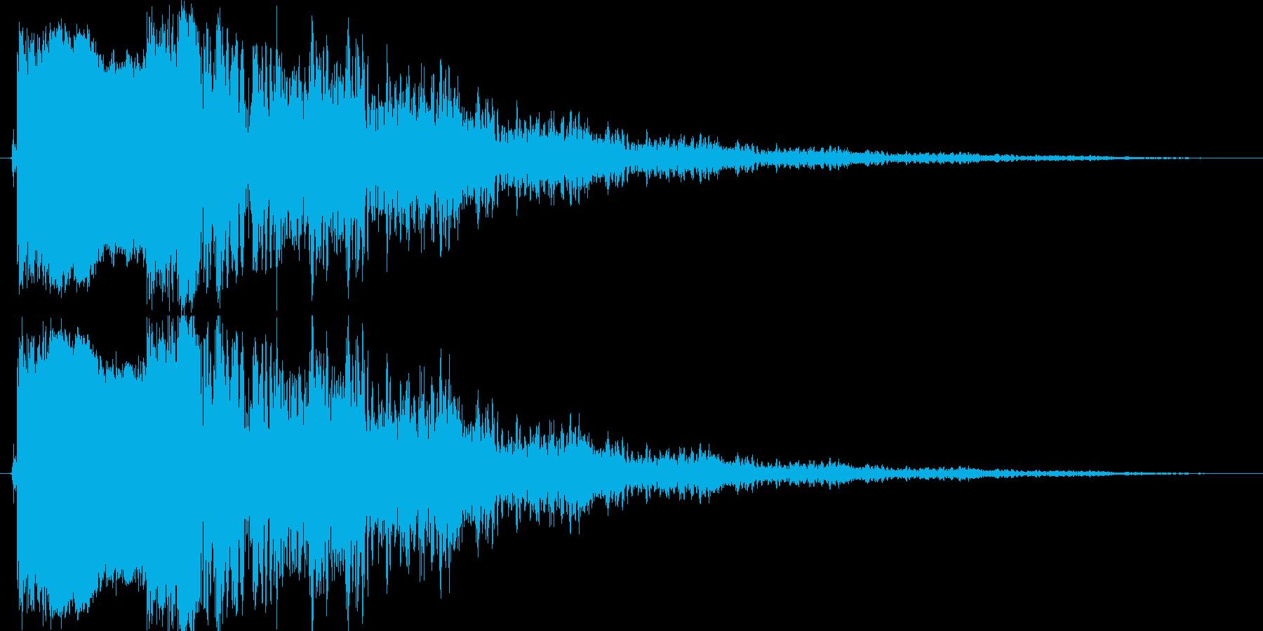 ピキーン(高い音)の再生済みの波形
