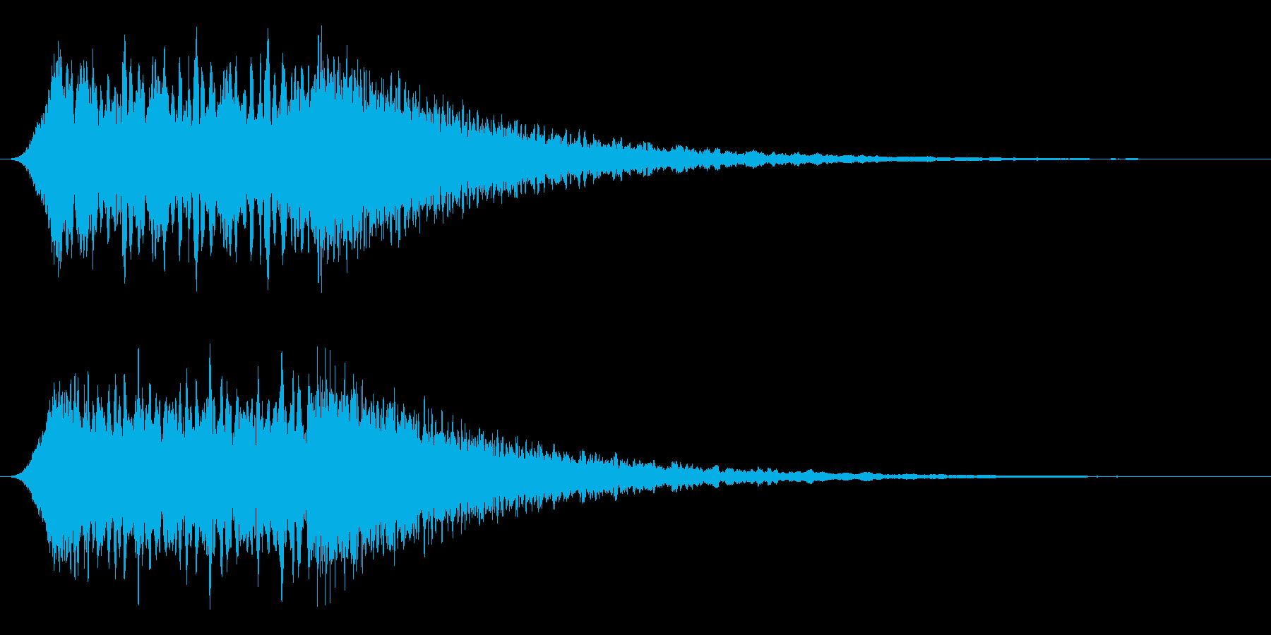 汎用サイレン 少し長めの再生済みの波形
