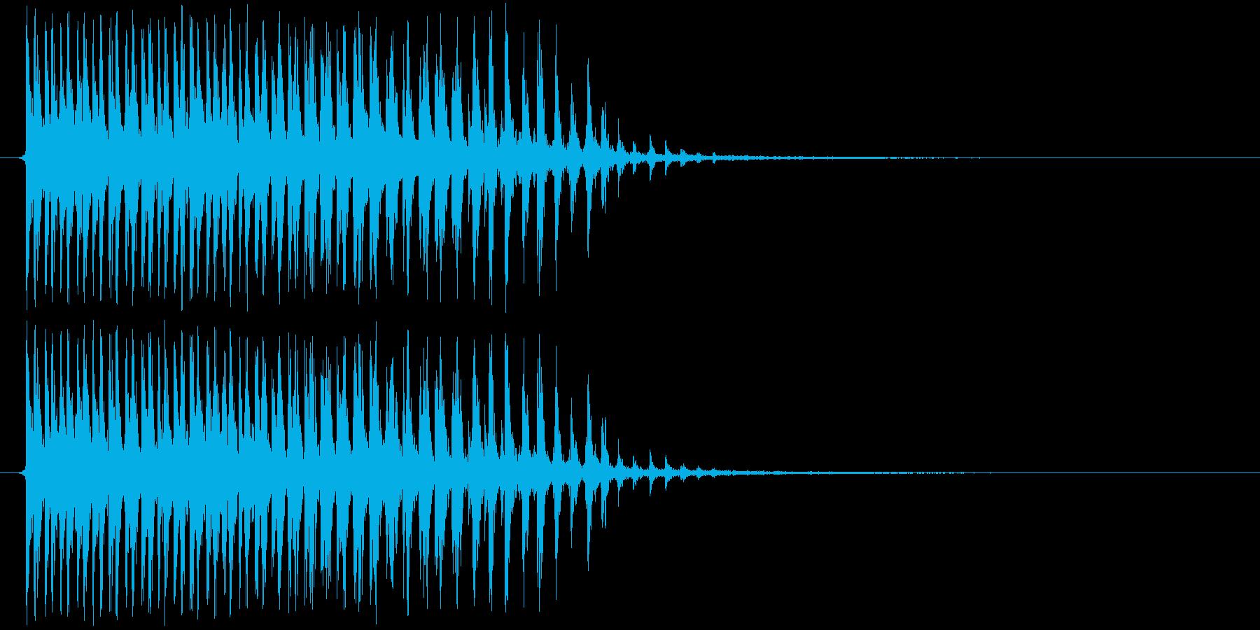 カー(ビブラスラップ、生音)の再生済みの波形