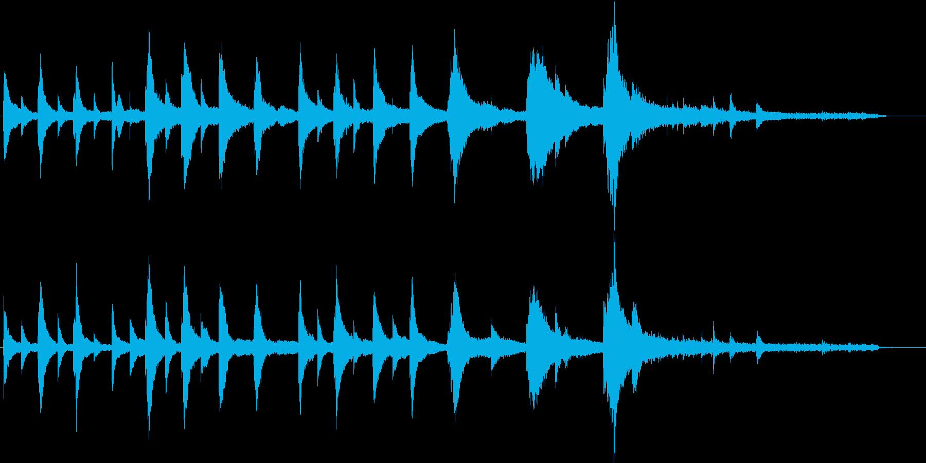 切ないシーン導入に使える短いピアノ曲の再生済みの波形