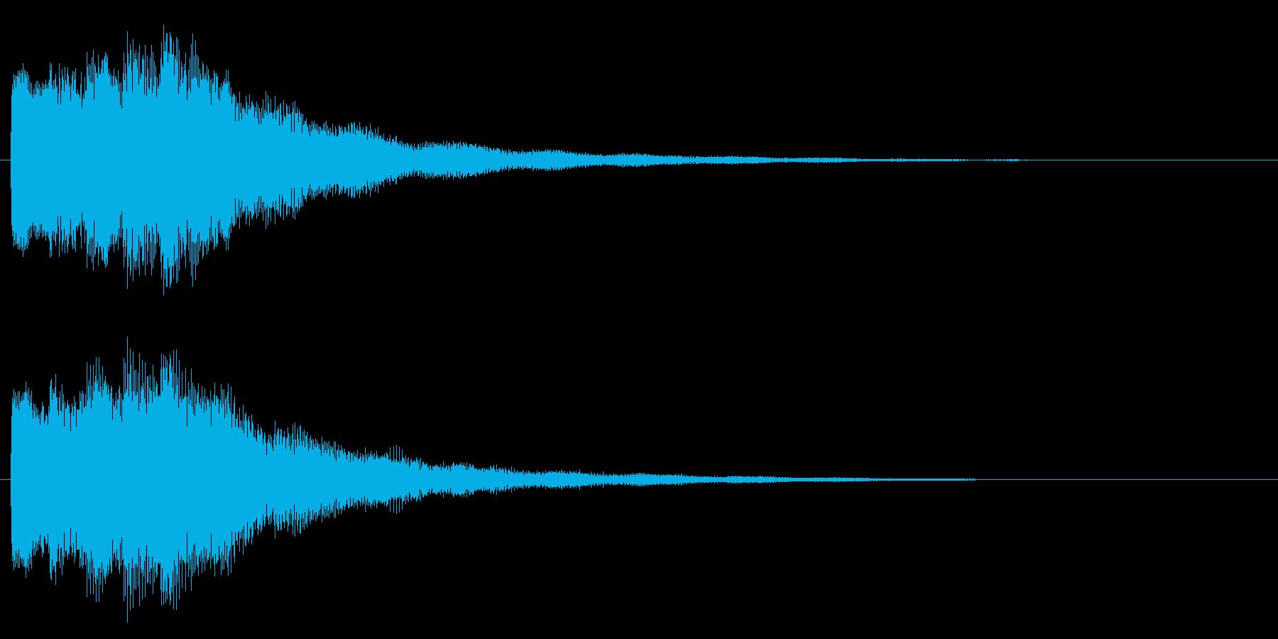 スタート音/宇宙/シューティング系の再生済みの波形