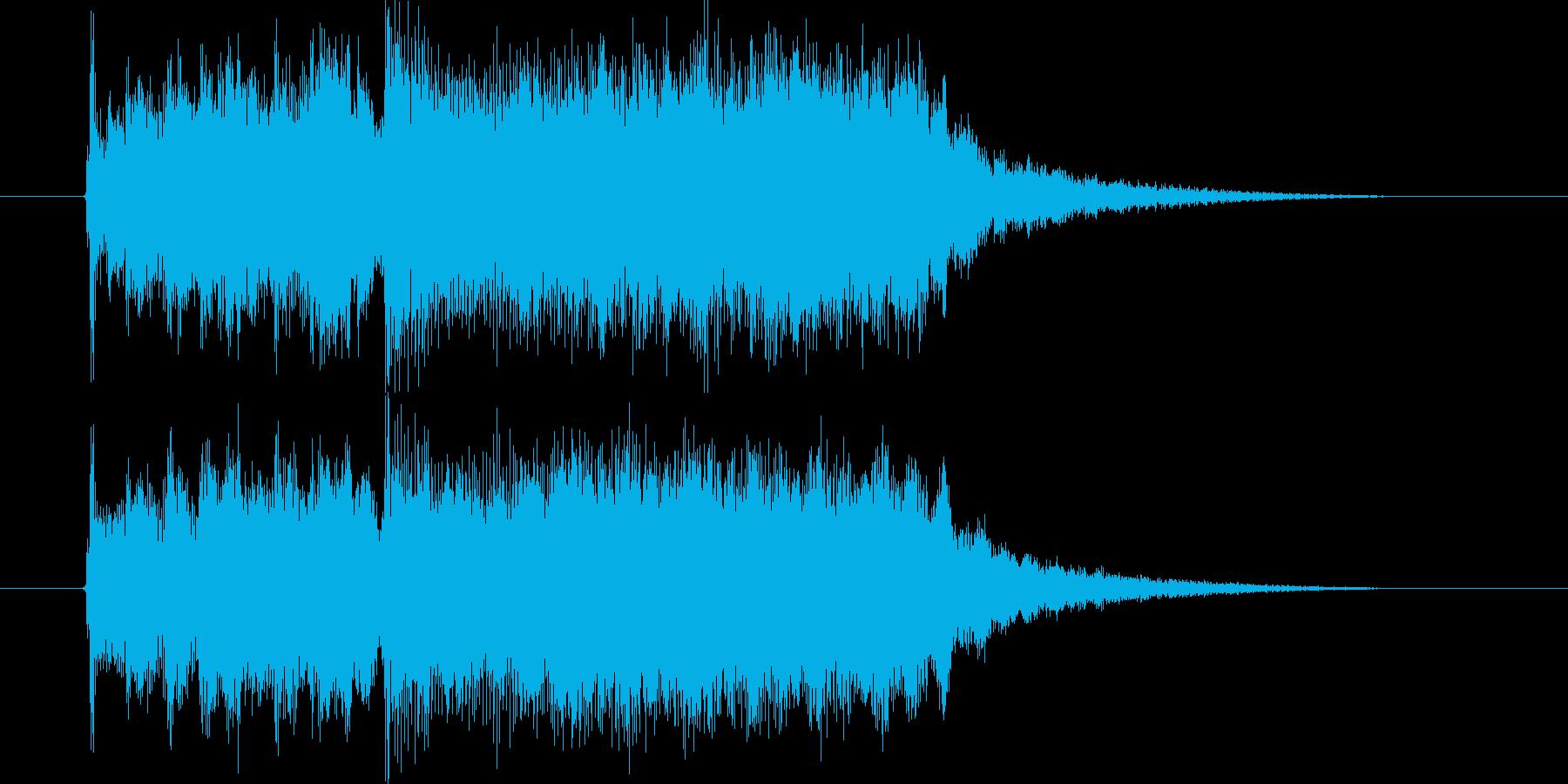 豪華でワクワク感のあるシンセサウンド短めの再生済みの波形