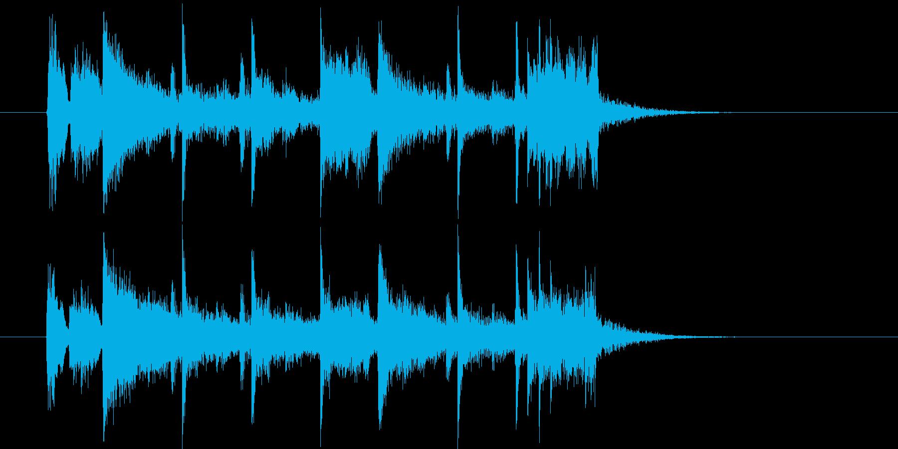 爽やかでおしゃれなシンセサウンド短めの再生済みの波形