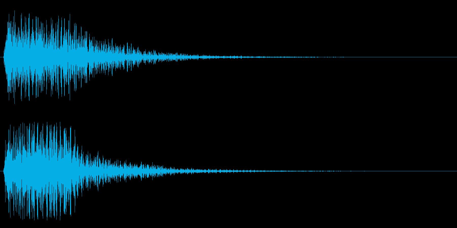 衝撃、驚き、ショックの再生済みの波形