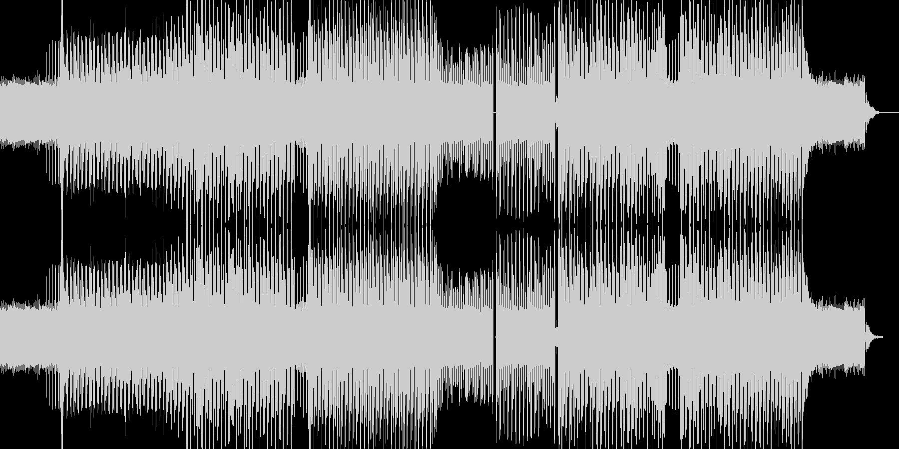 迫りくるイメージのトランス系テクノの未再生の波形