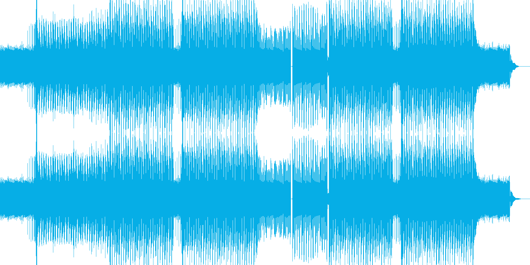迫りくるイメージのトランス系テクノの再生済みの波形