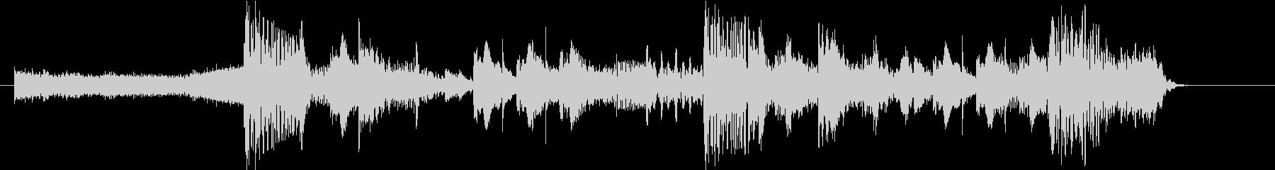 重低音のパワフルなダブステップロゴ!の未再生の波形