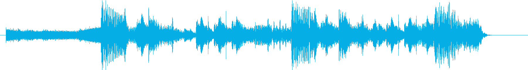 重低音のパワフルなダブステップロゴ!の再生済みの波形