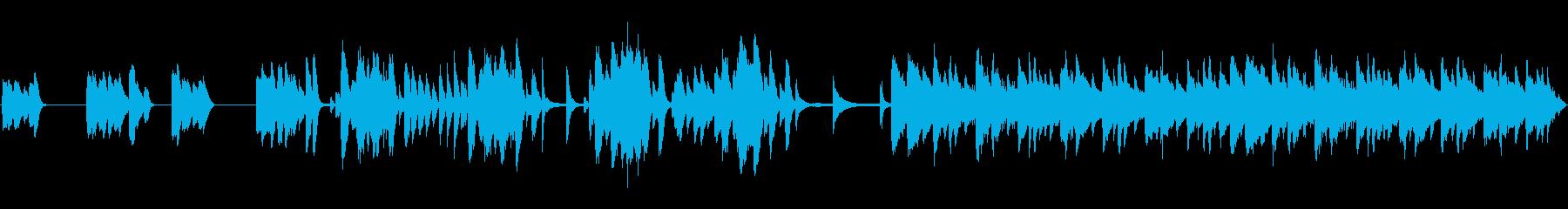 知的な感じのアコースティックなテクノの再生済みの波形