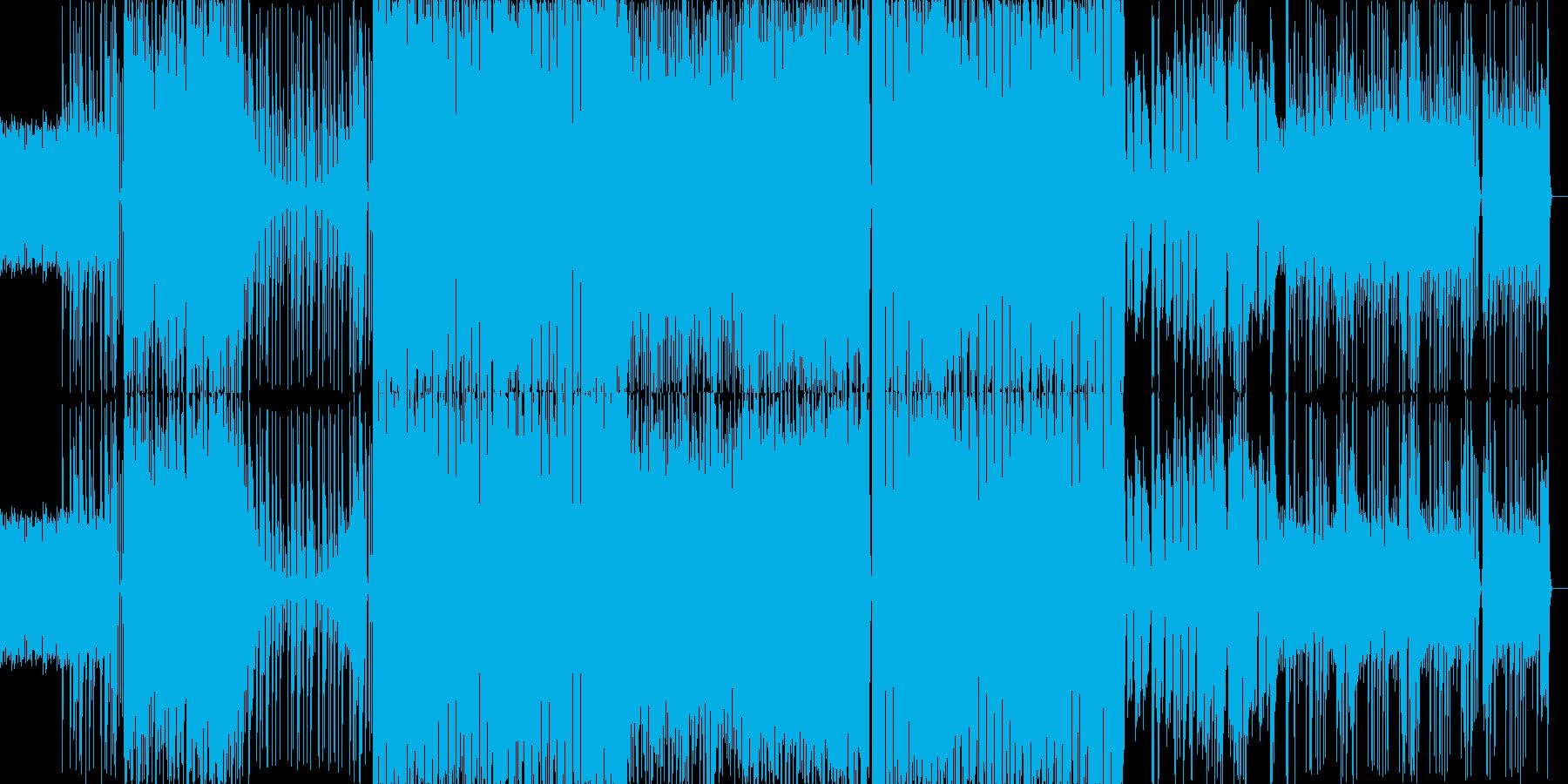 疾走感のあるドラムに透き通る電子音BGMの再生済みの波形