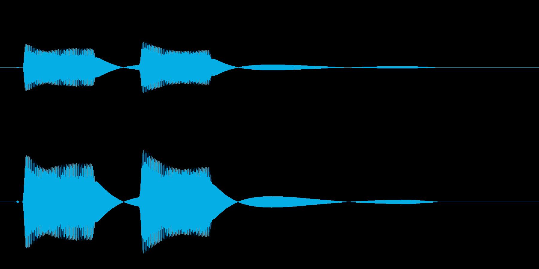 ピピッ(高い音色)短いの再生済みの波形