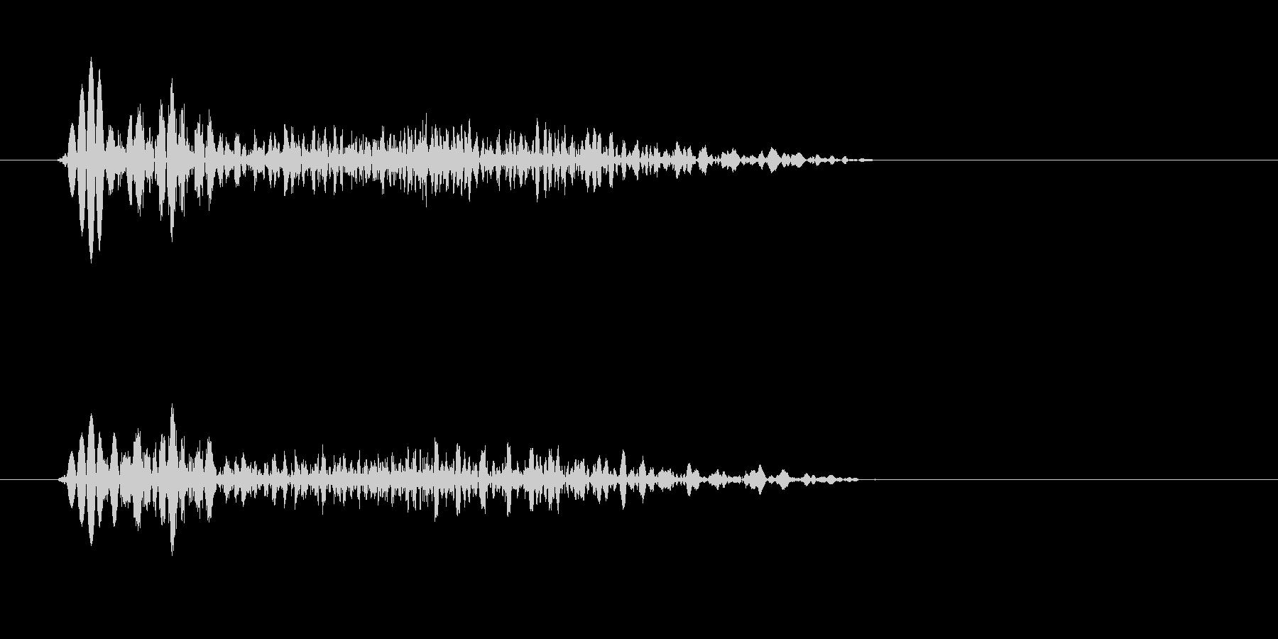 ぴゅっ(飛び出す、弾む)の未再生の波形
