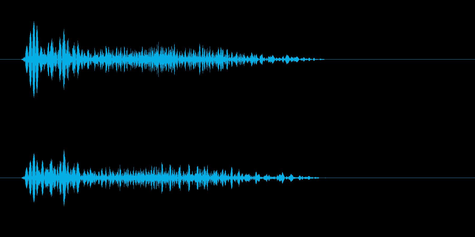ぴゅっ(飛び出す、弾む)の再生済みの波形