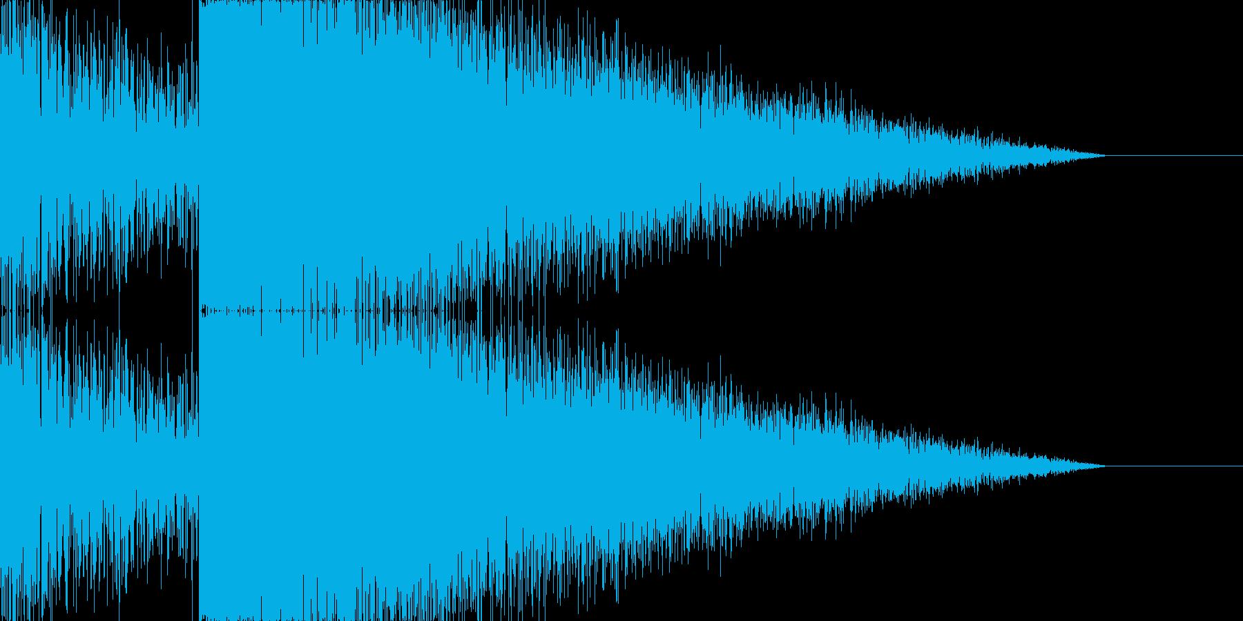 雷 落雷の音 ゴロゴロ ガシャーンの再生済みの波形