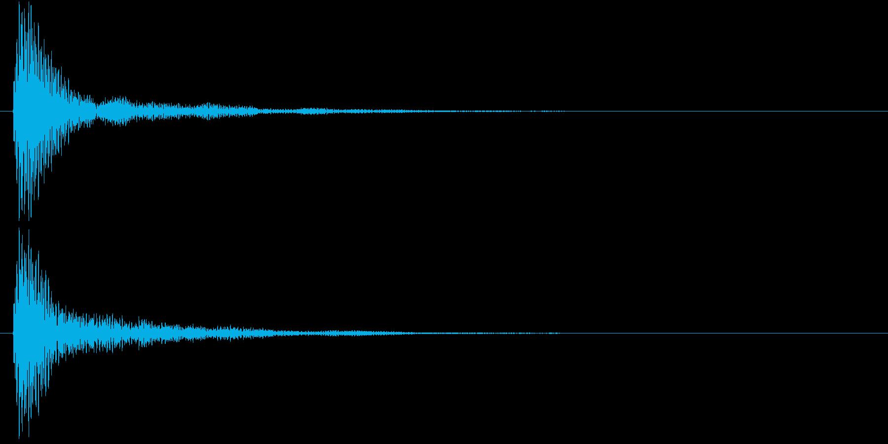 マリンバのクリック音の再生済みの波形
