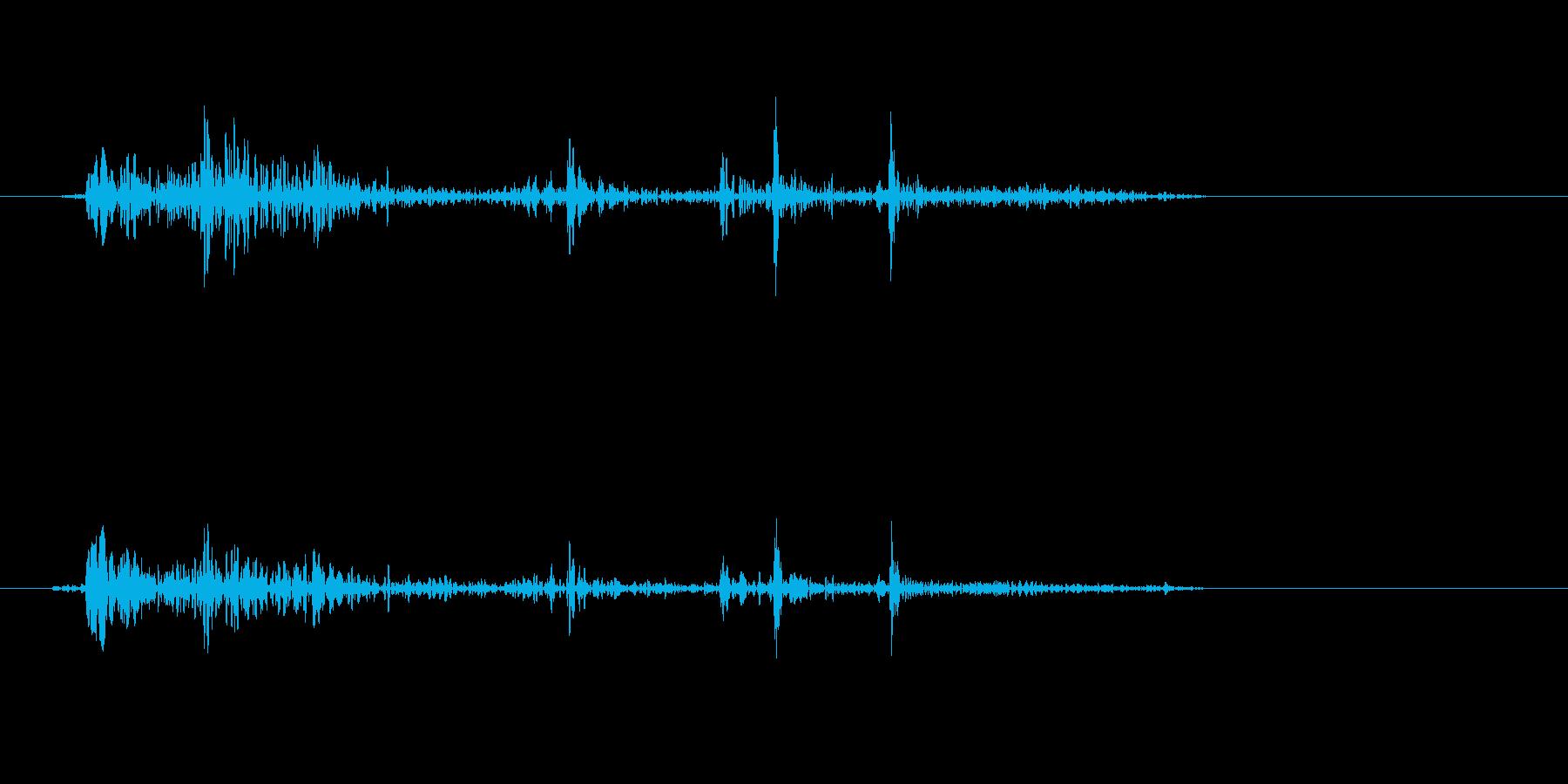 ドサッ(物音系)短めの再生済みの波形
