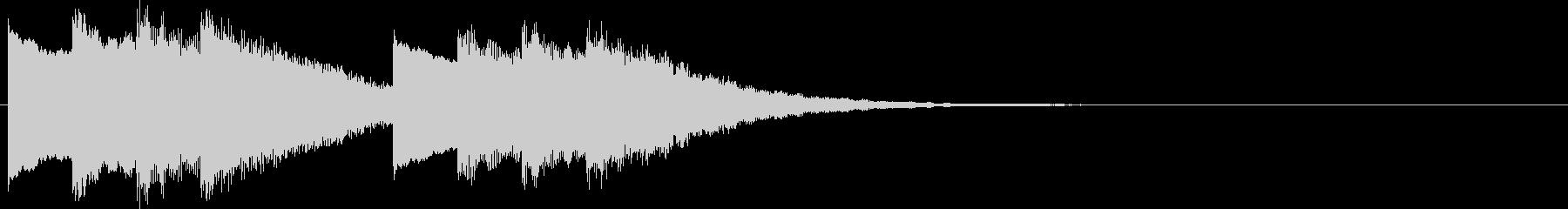 キンコン..。学校のチャイムF(低・短)の未再生の波形