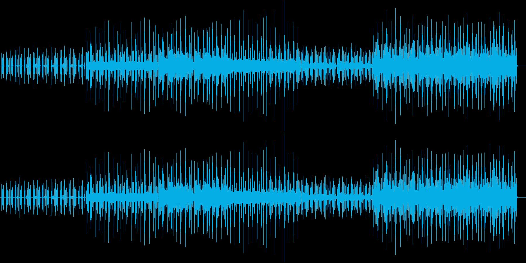 木琴の音がメインでゆったりした曲の再生済みの波形