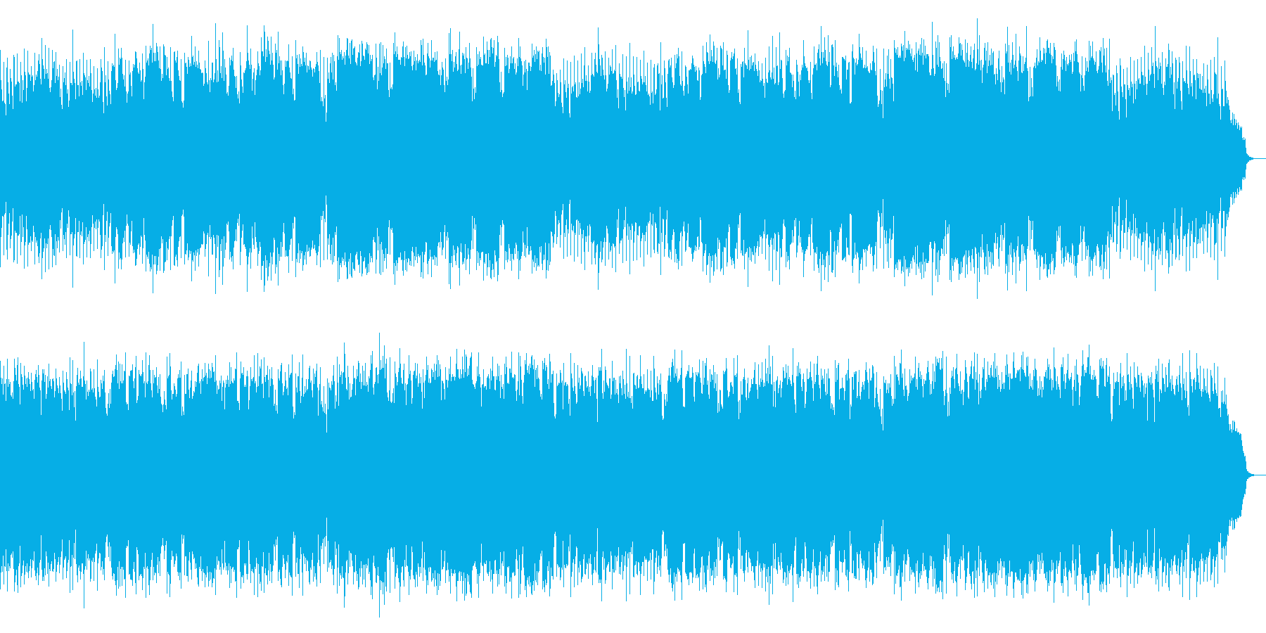 フルートが奏でるラテン系マーチ風ポップスの再生済みの波形