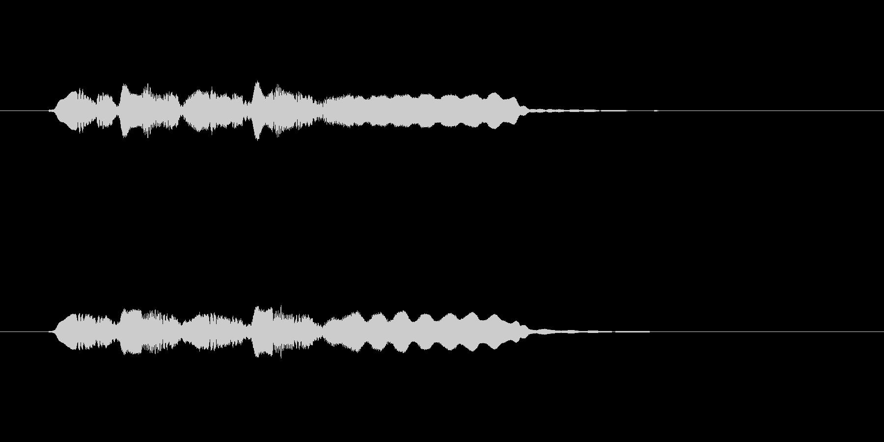 ゆったりとした音楽を奏でるフルートの未再生の波形