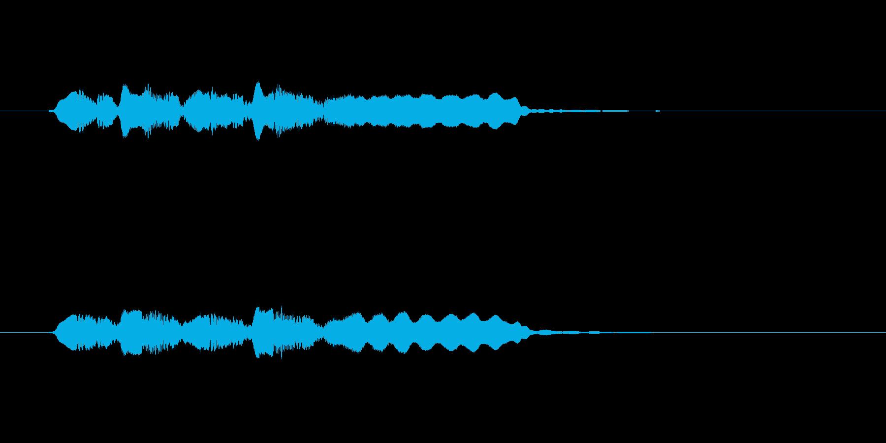 ゆったりとした音楽を奏でるフルートの再生済みの波形