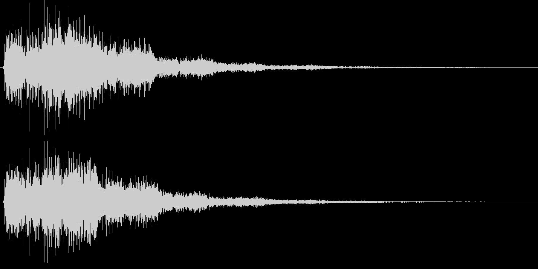 決定音(少し長めの電子音)の未再生の波形